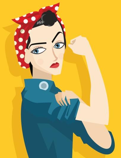 feminist poster vintage girl